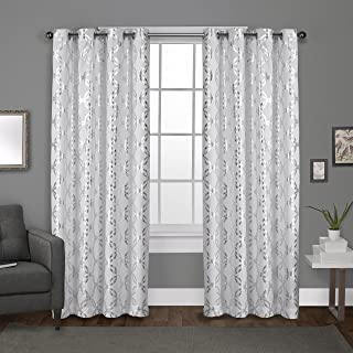 Exclusive Home Curtains Modo Grommet Top Panel Pair, Winter White, 54x96, 2 Piece