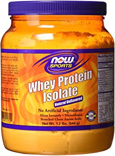 Now Foods Sports Whey Protein Isolate, Natural Unflavored, 544g