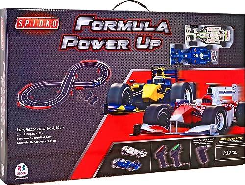 Globo Toys 37827  ab  1  32 6cm Formel spidko Track mit Trafo 2 to