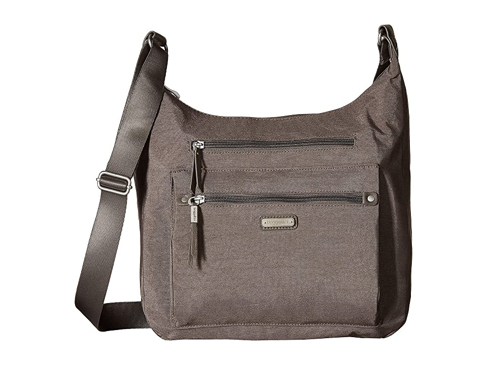 Baggallini New Classic Day Trip Hobo with RFID Phone Wristlet (Sterling Shimmer) Hobo Handbags