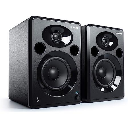 Alesis Elevate 5 MKII - Paire d'Enceintes PC Actives pour Monitoring Studio, Montage Vidéo, Gaming, Musique ou pour les Brancher à Votre Piano Numérique ou Clavier Maître