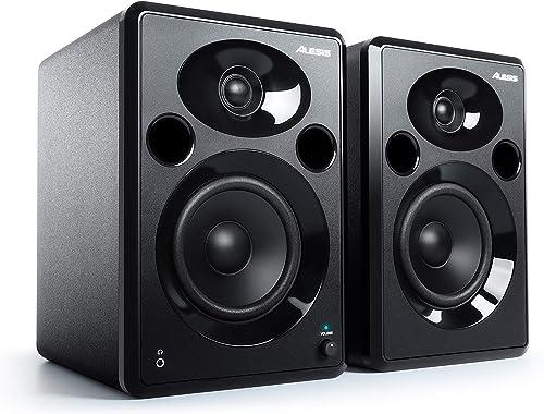 Alesis Elevate 5 MKII - Paire d'Enceintes PC Actives pour Monitoring Studio, Montage Vidéo, Gaming, Musique ou pour l...