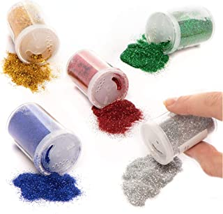 Baker Ross AR716 Glitter Shakers (Pack Of 5) For Kids Arts And Crafts