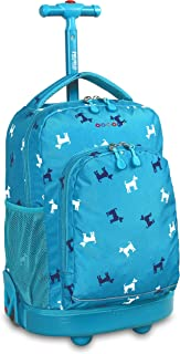 J World New York Sunny Rolling Backpack for School & Travel, 17 inch