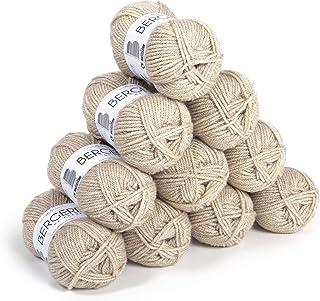BERGÈRE DE FRANCE - Lot 10 Pelotes de laine à tricoter et à crocheter BARISIENNE 7 (10 x 50g) - Fabriqué en France - 100% ...