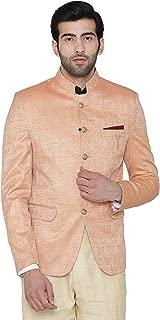 WINTAGE Men's Banarsi Rayon Cotton Casual and Festive Indian Jodhpuri Grandad Bandhgala Blazer : 2 Colors,