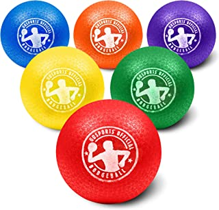 GoSports Inflatable Dodgeball - No Sting Balls - Includes Ball Pump & Mesh Bag