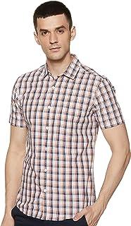 Amazon Brand - Symbol Men's Checkered Regular fit Casual Shirt (SS20SYMCSHS-01M_