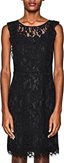 ESPRIT Collection Women's 127eo1e013 Party Dress, Black (Black 001), 36