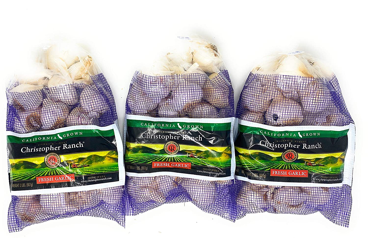 3 Pounds Fresh Garlic USA Max 62% OFF California o Pack Finest Wholesale Gilroy Grown