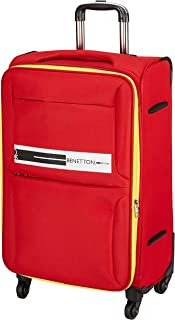 United Colors of Benetton Polyester 60 cms Red Softsided Check-in Luggage (0IP6EAS24F01I)