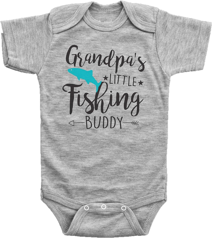 Baffle Grandpa's Little Fishing Buddy Bombing free Free shipping shipping Onesies Bo Baby Fish Funny
