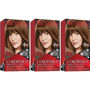Amazon Com Revlon Colorsilk Hair Color Medium Golden Brown 43 1 Ea Chemical Hair Dyes Beauty