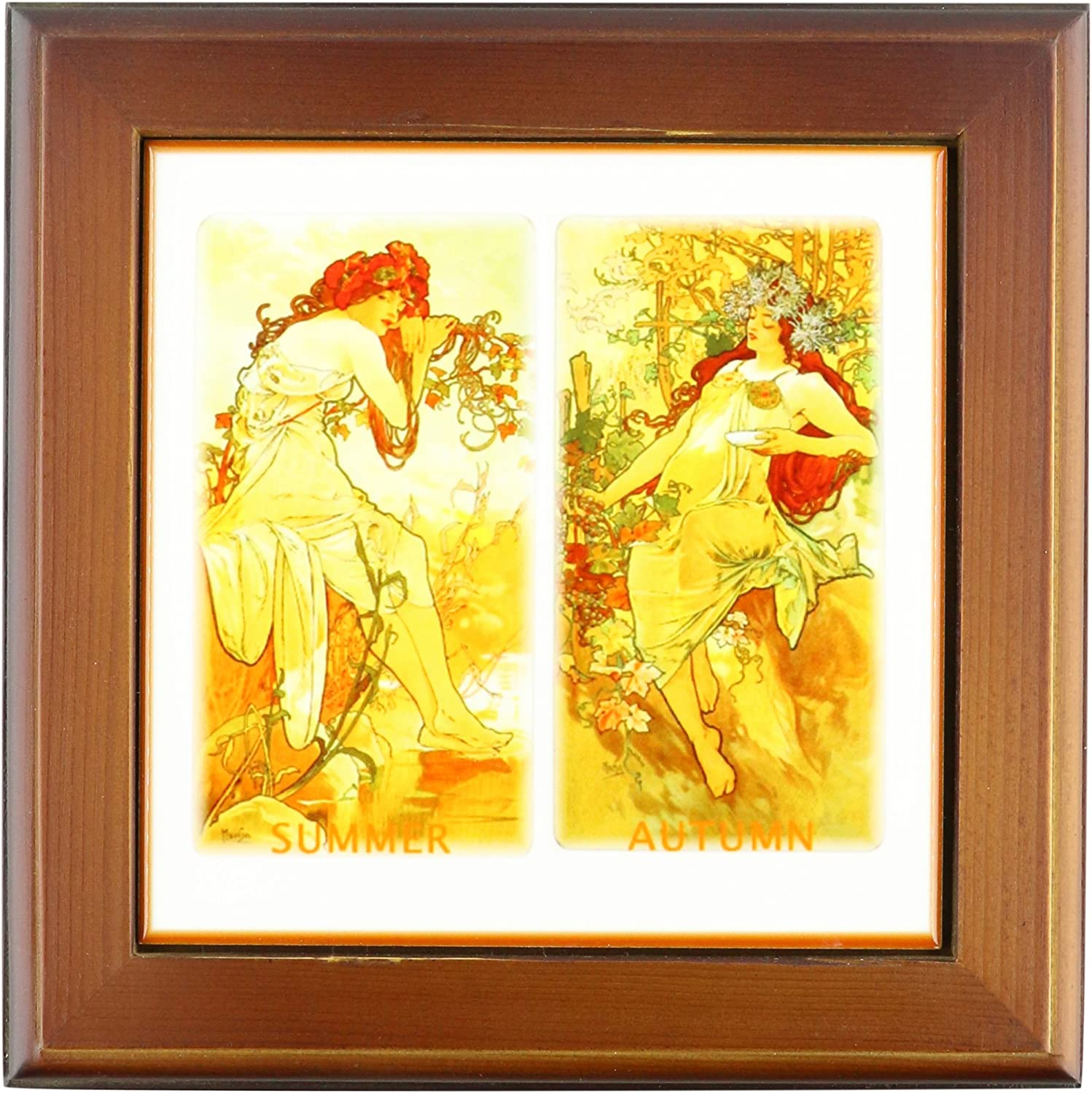 3dRose ft_60671_1 Outlet ☆ Free Shipping Muchas Paintings of Fall N Frame Ladies Summer famous