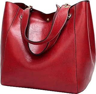 Molodo Womens Satchel Hobo Top Handle Tote Leather Handbag Designer Shoulder Purse Bucket Crossbody Bag