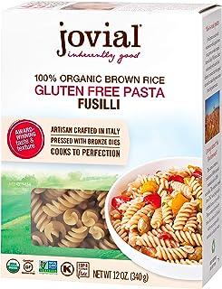 Jovial Fusilli Gluten-Free Pasta | Whole Grain Brown Rice Fusilli Pasta | Non-GMO | Lower Carb | Kosher | USDA Certified O...