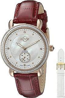 by Gevril Women's 9835 Marsala Analog Display Swiss Quartz Red Watch