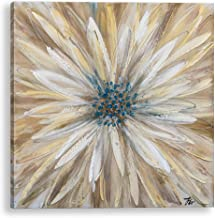 Bayland Collection SH263 Yellow 3030 inch Hand Floral Canvas Artwork, Home Decor, Modern Wall Art,Oil Paintings for Living...