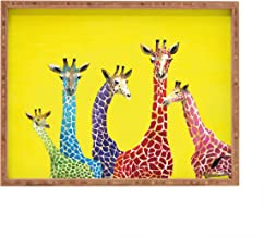 Deny Designs Clara Nilles Jellybean Giraffes Indoor/Outdoor Rectangular Tray, 14 x 18