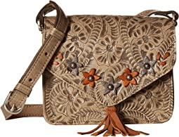 American West Flower Power Flap Crossbody Bag