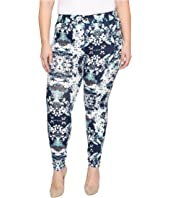 HUE - Plus Size Bouquet Essential Denim Leggings
