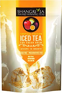 Shangri La Tea Company Iced Tea, Tropical Passion, Bag of 6, 1/2 oz Pouches