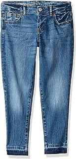 Gymboree Girls' Big Super Skinny Jeans, Medium wash with Hem, 8