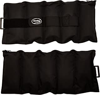 Body Coach 18305 - Muñequeras lastradas Ajustables (2 Unidades de 2,3 kg), Color Gris y Negro