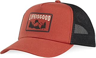 Life is Good Mesh Back Chill Lig Mountain Patch Hat, Earthy Rust