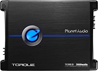 Planet Audio TR3000.1D Class D Car Amplifier - 3000 Watts, 1 Ohm Stable, Digital, Monoblock, Mosfet Power Supply, Great fo...