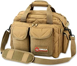 Orca Tactical Gun Range Bag for Handguns, Pistols and Ammo - Duffle Carrier Stores and Protects 3+ Firearms Safely - Transport Shooting Range Equipment - Designed for 2019