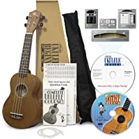 eMedia Ukulele Beginner Pack Soprano, Win/Mac Software Lessons, Tuner and Chord Dictionary, DVD Lessons, and Accessories