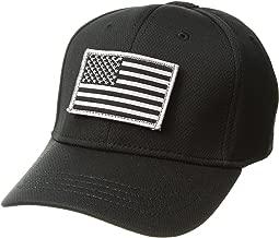 Condor Flex Tactical Cap (Black) + Stitched Flag & Warrior Patch