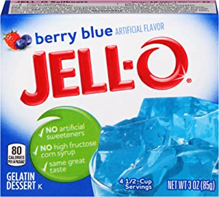 JELL-O Berry Blue Gelatin Dessert Mix (3 oz Box)
