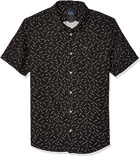 RVCA Men's ANP Pack Short Sleeve Woven Button Front Shirt