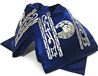 Blue and Silver Mariachi Bow Tie. Moño Charro Bordado