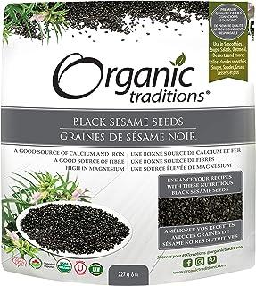 Organic Traditions Black Sesame Seeds, 227 gm