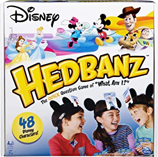 HedBanz Disney, Guessing Game Featuring Disney Characters, for Kids and Adults, Ages 7 and Up (Edition May Vary), Multicolor