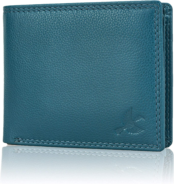 Hornbull Philadelphia Mall Men's Stella Aqua Blue Wallet Leather High quality new RFID Blocking