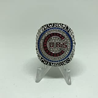 2016 Ben Zobrist Chicago Cubs HIGH QUALITY PREMIUM Replica 2016 World Series Championship Ring Size 11-Silver Color US SHIPPING