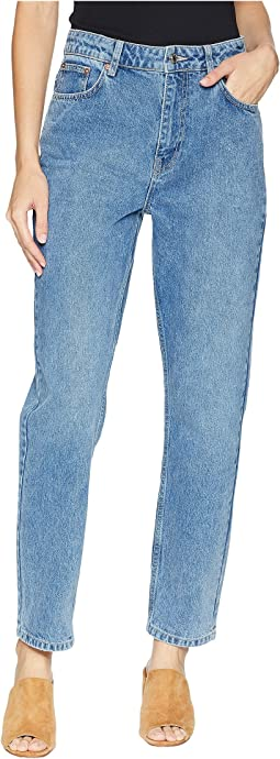 Free People Mom Jeans - Indigo