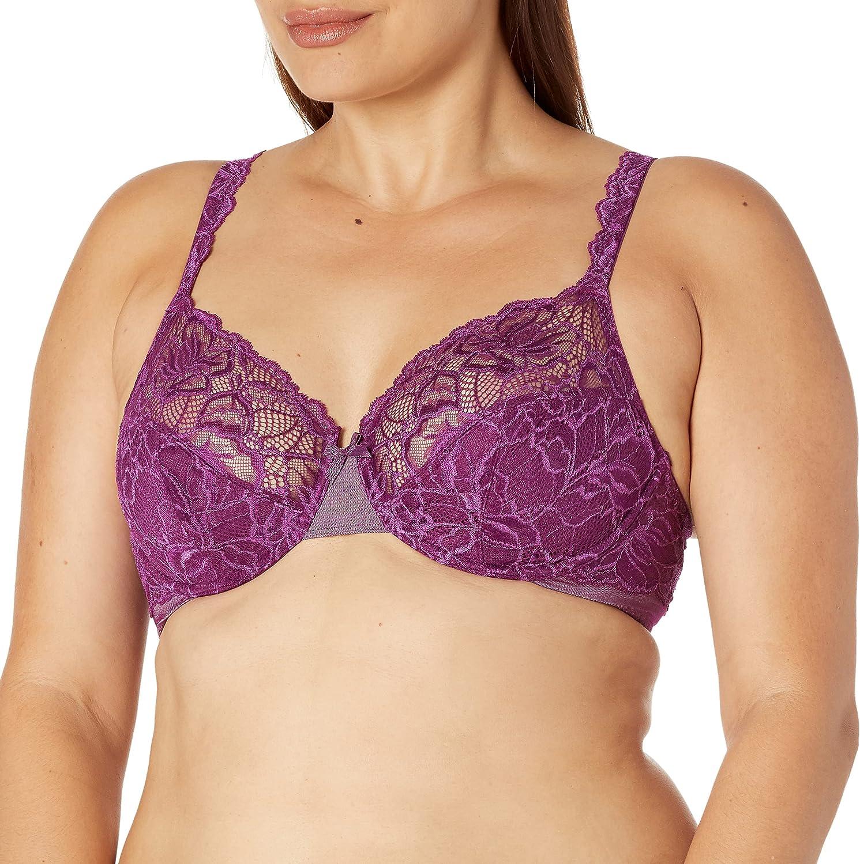 Bali Women's Lace Desire Non-Foam Underwire Bra DF6543, Venetian Purple, 42C