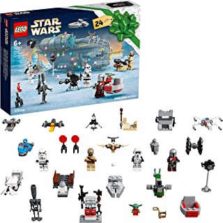LEGO 75307 Star Wars Advent Calendar 2021 Toy Building Set, The Mandalorian Christmas Gift for Kids Age 6+ with Baby Yoda ...
