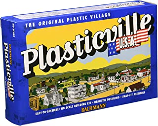 Bachmann Industries Plasticville U.S.A. Kit - Ranch House (HO Scale), Cream & Brown