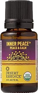 Desert Essence Organic Essential Oil - Inner Peace - Peace & Calm - .5 Fl Oz - Freshens Air - Clarifying Scent - Promotes Peace & Serenity - Yoga or Meditation Practice - Tea Tree, Cedarwood Oil
