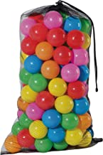 Franklin Sports Ball Pit Balls 100 pack - BPA Free, Phthalate Free, Crush Proof Non-PVC Plastic - 6 Colors Included With A Reusable Mesh Drawstring Bag