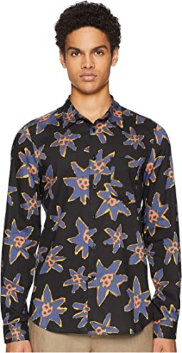 Long Sleeve Abstract Floral Shirt