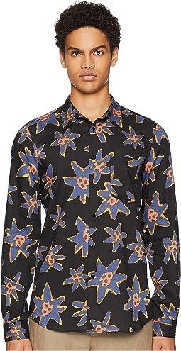 Long Sleeve Abstract Floral Shirt