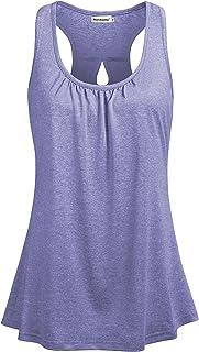 Nandashe Women's Sleeveless Tops Summer Racerback Tank Loose Yoga Workout Tunics