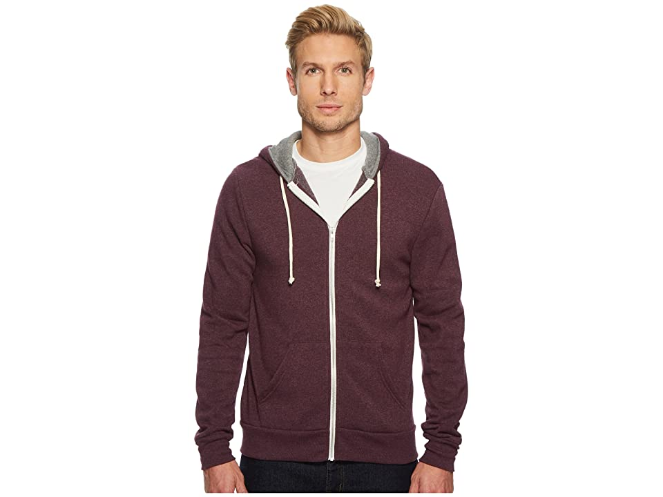 Alternative Rocky Color Blocked Hoodie (Plum Overdye/Eco Grey) Men